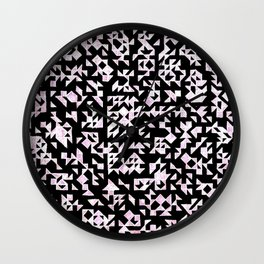 Inverted Black and White Randomness Wall Clock