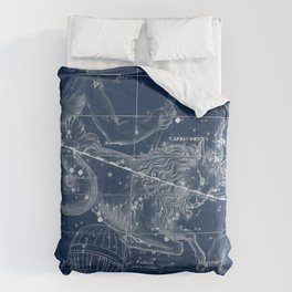Capricorn sky star map Comforters