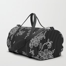 LIVING IN BLACK AND WHITE Duffle Bag