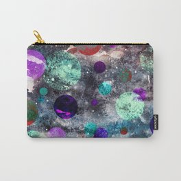 Dark Watercolor Spacey Weirdness Carry-All Pouch