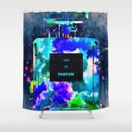 Perfume Dark Grunge Shower Curtain
