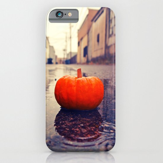 Rainy day pumpkin iPhone & iPod Case
