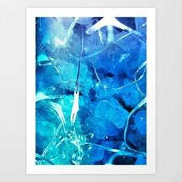 Crystal Blue Lights Art Print