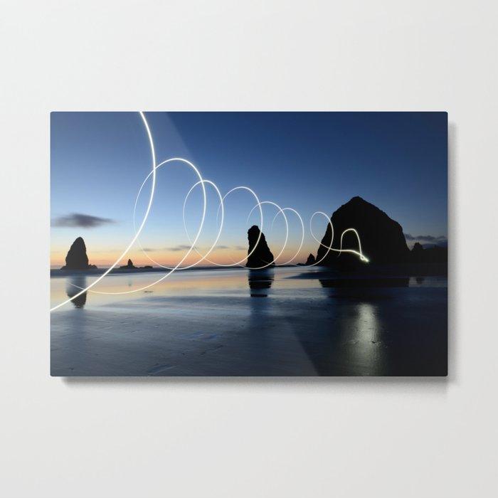 Ocean light rays Metal Print