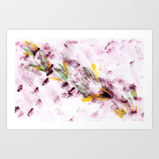Purple Flying Bugs Art Print