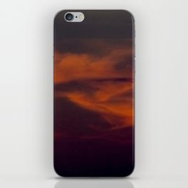 storm annoucement at sunset iPhone Skin