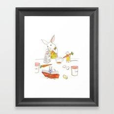 Grating Carrots Framed Art Print