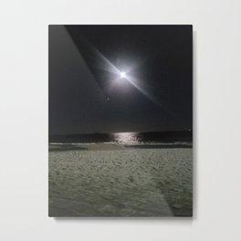 Sea, Beach, Night and the Moon Metal Print