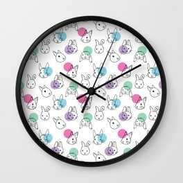 the rabbits / pattern Wall Clock