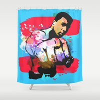 ali Shower Curtains featuring Ali by BIG Colours