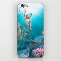 little mermaid iPhone & iPod Skins featuring Little Mermaid by Simone Gatterwe