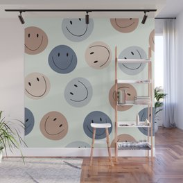 Smiley faces Wall Mural