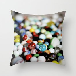 I Lost My Marbles Throw Pillow