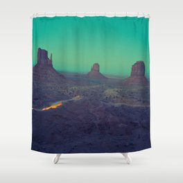 The Arizona Desert Grand Canyon Landscape With Turquoise Sky Sunset Shower Curtain