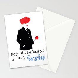 Diseñdor serio Stationery Cards