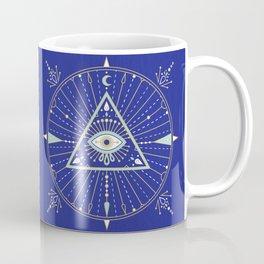 Evil Eye Mandala – Navy Coffee Mug