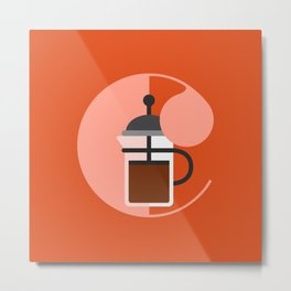 C is for Coffee Metal Print
