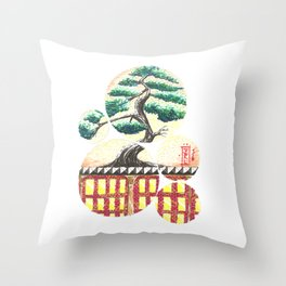 Bonsai City Throw Pillow