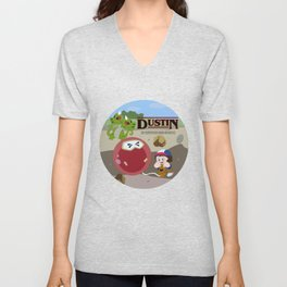 Strange r things Dig Dug Arcade Game Unisex V-Neck