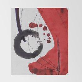 Enso Of Zen 102A by Kathy Morton Stanion Throw Blanket