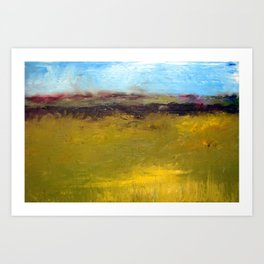Abstract Landscape - The Highway Series Art Print