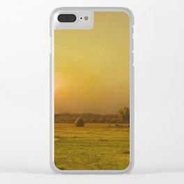 Martin Johnson Heade - Marsh Sunset  Newburyport  Massachusetts Clear iPhone Case