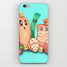 90s Food iPhone Skin