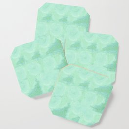 Blue Gray Cotton Fluff Coaster