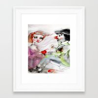 clown Framed Art Prints featuring Clown by AliluLera