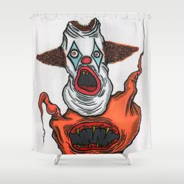 Mutant Clown Shower Curtain