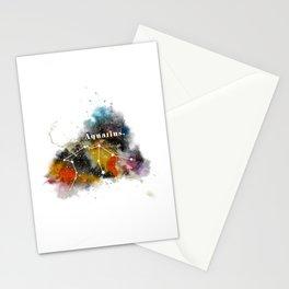 Galaxy AQUARIUS Star Sign Astrology Watercolour Rainbow Art Print Art Print Stationery Cards