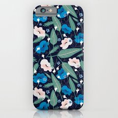 Blue Botanical Slim Case iPhone 6s