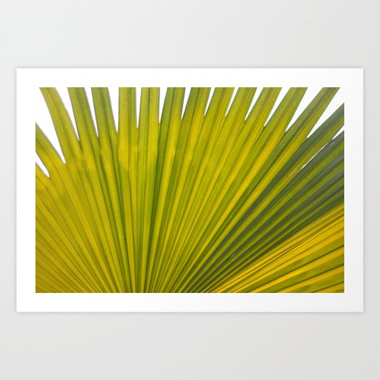 bright green flora Art Print