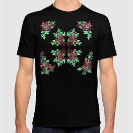 Red Coralline Flowers T-shirt