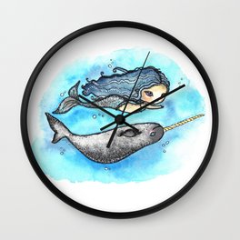 Unicorn of the Sea Wall Clock