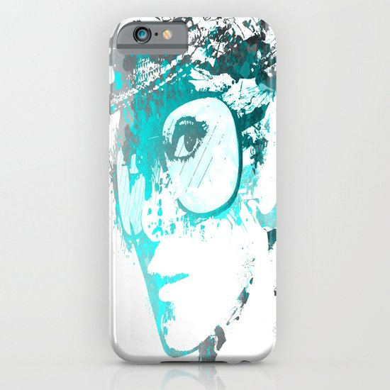 Audrey splash Cool Blue iPhone & iPod Case
