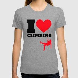 I love Climbing - Funny Climber Gift T-shirt