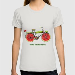 ORGANIC INVENTIONS SERIES: Vintage Watermelon Bicycle T-shirt