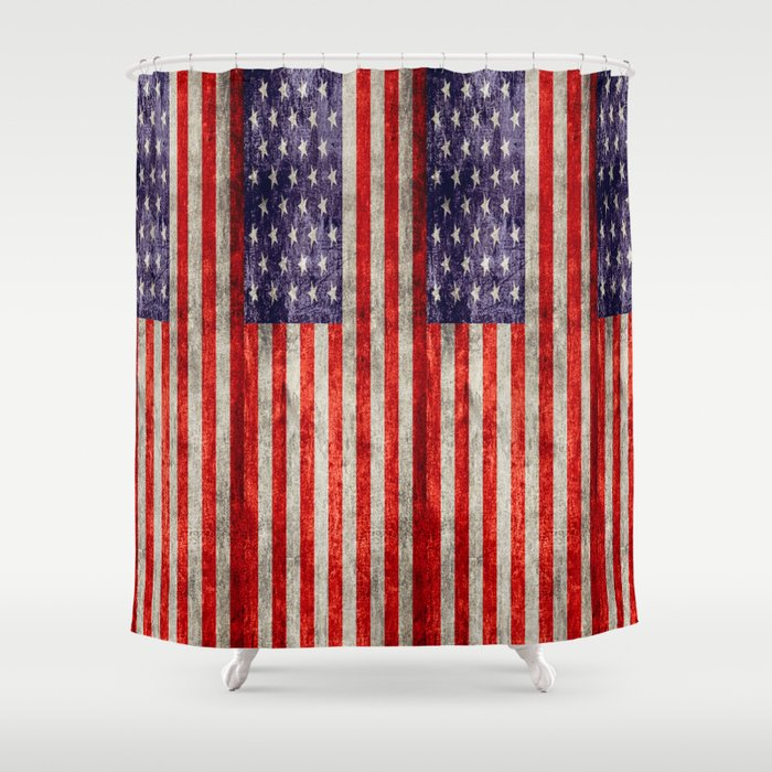 Antique American Flag Shower Curtain by falln | Society6