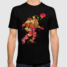 Spaced out Mens Fitted Tee LARGE Black