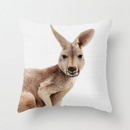 Kangaroo Print, Australian Animal Wall Art, Nursery Decor, Kids Room Poster Throw Pillow