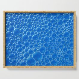 Champagne Bubbles Collection: #1 - Vibrant Blue Serving Tray