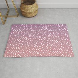 Dots. Pink Art Print Rug