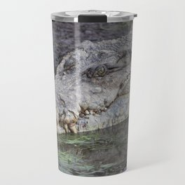 crocodile in the wild Travel Mug