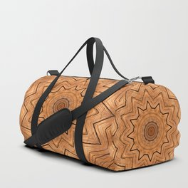 Wooden Wheel of the year of the ring kaleidoscope Duffle Bag