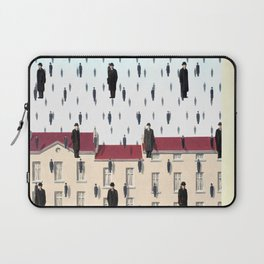 Magritte - Golconda 1953 - Artwork for Wall Art, Prints, Posters, Men, Women, Youth Laptop Sleeve