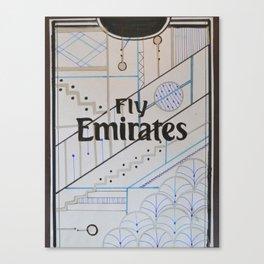 Real Madrid Jersey Illustration Canvas Print