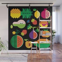 Fruit Medley Black Wall Mural