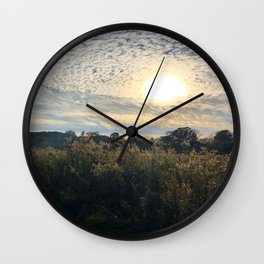 Sunshine Peaking Through Swirling Clouds Wall Clock