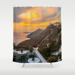Gorgeous Santorini b Shower Curtain